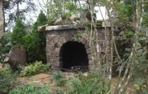 モルタル造形 暖炉